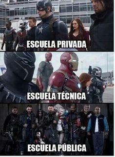 Memes Graciosos De La Escuela Ideas For 2019 New Memes, Funny Memes, Hilarious, Jokes, Avengers Memes, Marvel Memes, Spanish Memes, New Girl, I Laughed
