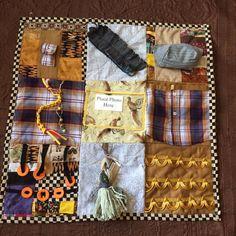 Sensory Blanket- Fidget Quilt Golden Pheasants by EclecticEchos on Etsy