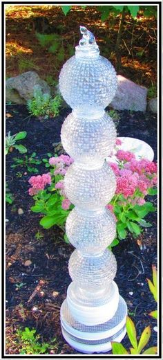 Ceiling Globes Garden Totem - I have these same globes! If I ever change them out... #gardentotems