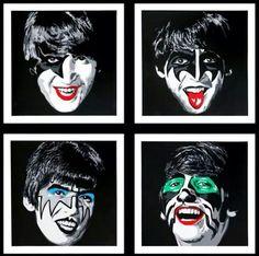 The Beatles / Kiss lol ! by Mr Brainwash 2014