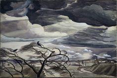 March Wind -   Charles Burchfield  1926   American 1893-1967