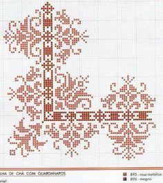 Punto croce rosso cross stitch 2 cross stitch, stitch ve cro Cross Stitch Boarders, Cross Stitch Samplers, Cross Stitch Flowers, Cross Stitch Charts, Cross Stitch Designs, Cross Stitching, Cross Stitch Patterns, Loom Patterns, Folk Embroidery