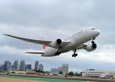 JAL take-off by San Diego International Airport, via Flickr    Japan Airlines' inagural flight from SAN DIEGO TO TOKYO leaves San Diego International Airport, utilizing the revolutionary 787 Dreamliner.