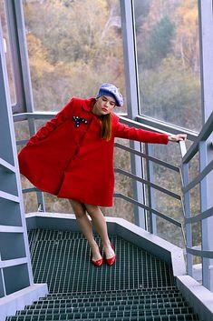 VivienMihalish /  Červený áčkový kabát Canada Goose Jackets, Winter Jackets, My Style, Clothes, Fashion, Winter Coats, Outfits, Moda, Clothing
