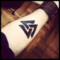 the valknut- vikings painted this on their shields to call the Valkyrie to take them to Valhalla if they were killed