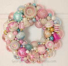 lovely vintage ornament wreath