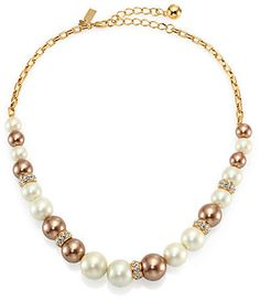 Kate Spade New York Parlour Faux Pearl Collar Necklace  $148.00 $103.60