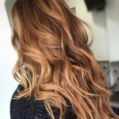 light caramel hair color on long hair