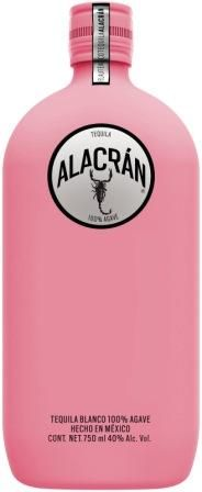 Alacran Tequila limited edition soft-touch matte pink bottles. PD