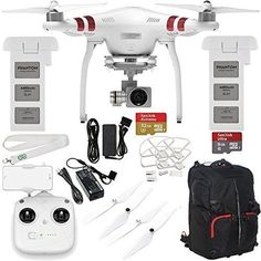 DJI Phantom 3 Standard with 27K Camera  3Axis Gimbal with Manufacturer Accessories  DJI Flight Battery  SSE Phantom Backpack  SanDisk Extreme 32GB microSDHC Memory Card  MORE *** Check out this great product.