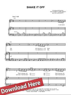 Taylor Swift & Shake It Of sheet music: download @ http://musicnotesdownload.us/taylor-swift-shake-it-off/