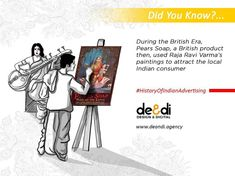 """In the British era few British products like """"pears"""" soap Indianize ads by using Raja Ravi Varma's paintings for attracting the local market in India. #historyOfIndianAdvertising #History #Indian #Advertising #graphicdesign #illustration #adagency #business #entrepreneur #branding #product #selling #marketing #communication #doyouknow #art #advertisement #newspaper #design #digital #company #graphicdesigner #MarketingManager #TargetAudience #MarketingStrategy #productmarketing #knowledge…"""
