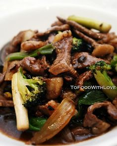 To Food with Love: Stir-fried Beef in Black Bean Sauce