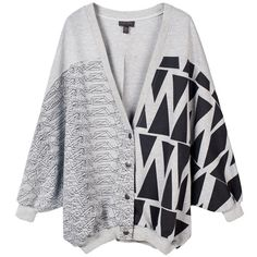 Stella Oversized Sweater (£355) ❤ liked on Polyvore featuring tops, cardigans, sweaters, outerwear, over sized cardigan, oversized tops and oversized cardigan