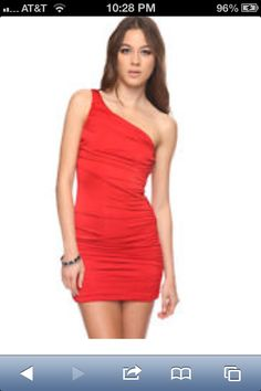 Shop Women's Forever 21 Red size M Mini at a discounted price at Poshmark. Description: Gently worn, bodycon, ruched on one side, one-shoulder. Stylish Dresses, Nice Dresses, Xmas Party Dresses, Barbie Fashionista, Forever 21 Dresses, Spring Summer Fashion, Fashion Beauty, Dress Up, My Style