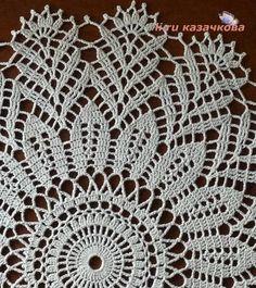 "Photo from album ""МОЕ ВЯЗАНИЕ"" on Yandex. Filet Crochet, Crochet Doilies, Knit Crochet, Tablecloth Fabric, Tablecloths, Doily Patterns, Chrochet, Crochet Projects, Cool Hairstyles"