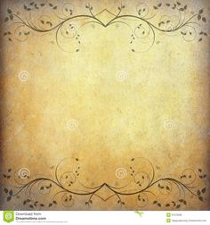 Old Paper Background With Vintage Flower - Download From Over 39 Million High Quality Stock Photos, Images, Vectors. Sign up for FREE today. Image: 21570295