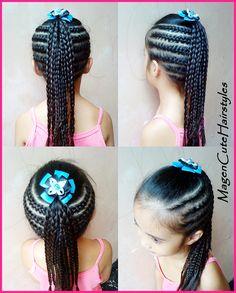 Cornrows005 Childrens Hairstyles, Kid Hairstyles, Braided Hairstyles, Cornrow Braid Styles, Cornrows, Braids, Hair Dos, Natural Hair Styles, Hair Care
