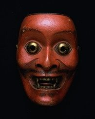Noh Mask - Sarutobide (Sprite with a monkey face) - One of 47 Noh Masks formerly owned by Konparu Sōke (the leading family of the Konparu School) - Wood / Coloured Muromachi-Meiji period - Century - Originally owned by Konparu-za Tokyo National Museum* Theatre No, Noh Theatre, Arte Tribal, Tribal Art, Totems, Japanese Noh Mask, Cool Masks, Masks Art, Ancient Art