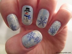 Snowman nails winter christmas nail art winter nail art snowman nails winter christmas nail art prinsesfo Images