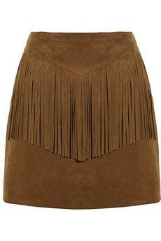 Love you fringe skirt. Saint Laurent Fringed suede mini skirt   NET-A-PORTER