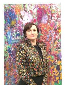 """""""Vanessa Mitter's paintings deliberately question the language of kitsch as an element of beauty. Her paintings are both exuberantly high-octane in terms of colour, but mordant in terms of their conceptual approach."""" - Unit G Gallery about Vanessa Mitter's work. Click on 'visit' to get more information! 美术"""