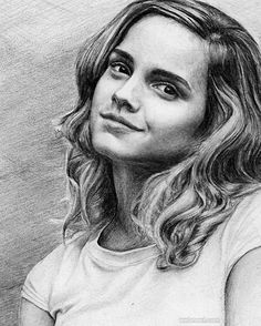 Pencil Portraits - Emma Watson by pencilplane - Discover The Secrets Of Drawing Realistic Pencil Portraits.Let Me Show You How You Too Can Draw Realistic Pencil Portraits With My Truly Step-by-Step Guide. Portrait Au Crayon, Pencil Portrait Drawing, Portrait Sketches, Portrait Art, Pencil Art, Pencil Drawings, Drawing Portraits, Harry Potter Artwork, Harry Potter Drawings
