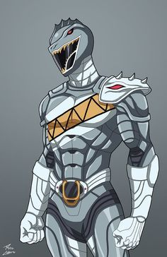 Silver Spinosaurus Ranger commission by phil-cho on DeviantArt