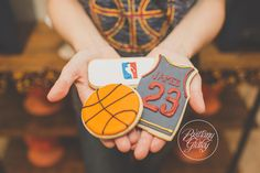 Basketball Cookies | NBA | Kelsey Elizabeth Cakes | Basketball Birthday Party | One Stylish Party | Basketball Party | Cleveland Cavaliers