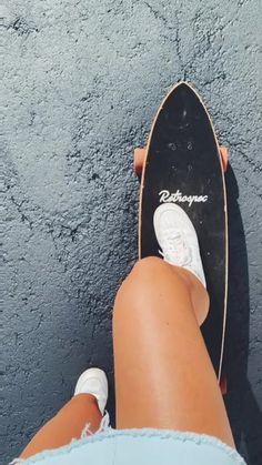 Secrets Of Sneaker Shopping. Skate Long, Images Esthétiques, Skate Girl, Skateboard Girl, Penny Skateboard, Cool Skateboards, Summer Goals, Longboarding, Summer Aesthetic