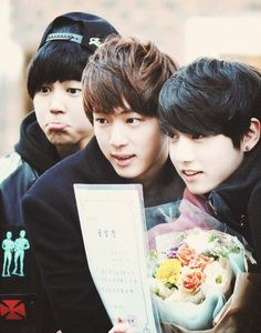 OMOOO ITS JUNGKOOKIE GRADUATION FROM MIDDLE SCHOOL *0* He said in a log he didn't really feel happy about it