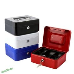 #Security safe #petty  cash box #money bank deposit steel tin  with 2 keys & tray,  View more on the LINK: http://www.zeppy.io/product/gb/2/291652274713/