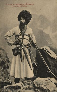 Ramonov vano ossetin northern caucasia dress 18 century - Ossetians - Wikipedia, the free encyclopedia Old Photos, Vintage Photos, Caucasian People, Man About Town, The Old Days, People Of The World, Central Asia, Male Face, Dieselpunk