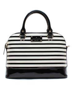 Black & Cream Rachelle Wellesley Patent Leather Satchel : Kate Spade! So beautiful! My christmas gift!