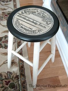 DIY Stool Makeover - Reader Feature - The Graphics Fairy