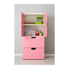 """STUVA Storage combination w doors/drawers - white/pink, 23 5/8x19 5/8x50 3/8 """" - IKEA"""