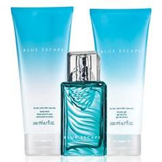 Blue Escape For Her 3-Piece Fragrance Collection, 18.00.  Includes parfum, shower gel and body lotion.  Request sample.