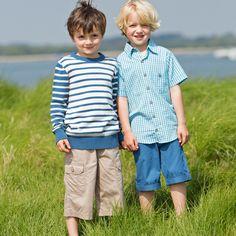 Kite Boy Check Shirt, Blue (2-6Yrs)