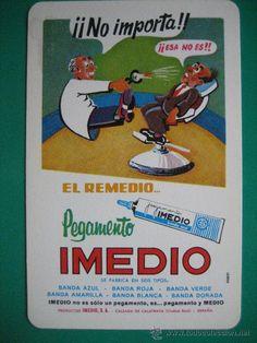 calendario fournier, pegamento imedio, de 1977
