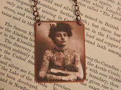 Feminist Necklace necklace mixed media jewelry by SarahWoodJewelry on Etsy