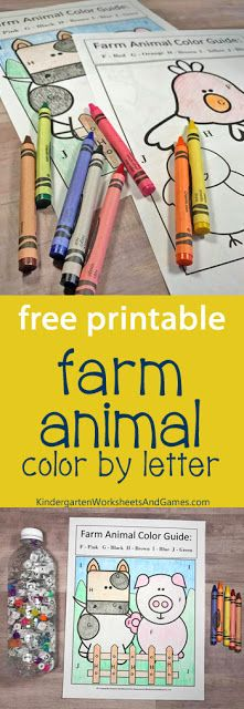 Farm Animal ABC Search with FREE Color by Letters Activity - this is such a fun . - Farm Animal ABC Search with FREE Color by Letters Activity – this is such a fun activity for pres - Farm Animals Preschool, Farm Animal Crafts, Preschool Colors, Preschool Literacy, Free Preschool, Preschool Lessons, Preschool Farm Theme, Homeschool Kindergarten, Farm Activities
