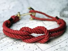 Anchor Bracelet for MEN!!! #RedAccesories all day, everyday!