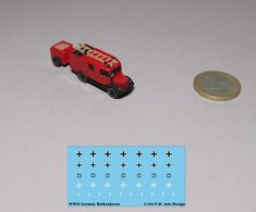 New 1/144 WWII German Benz L1500S Fire Truck red /w decal    eBay