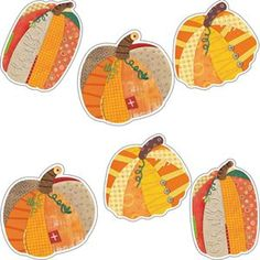 """Pumpkins 6"""" - for fall crafts and bulletin boards."""
