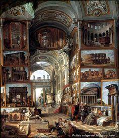 Giovanni Paolo Pannini, Galerie de la Rome antique, 1755