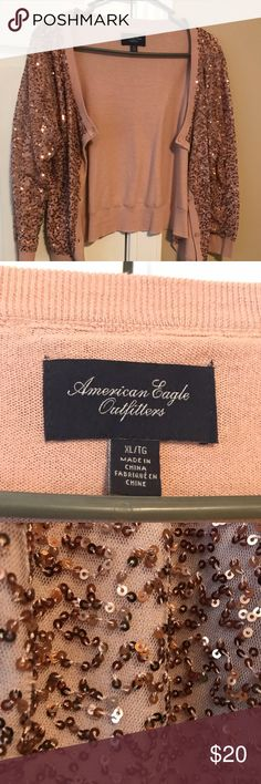 American Eagle sequin sweater Worn a few times but not my style. Like new. Sweaters Cardigans