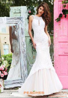 Sherri Hill Lace Mermaid Pink Dress 50112