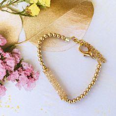 Luxurious Bracelets Swarovski Bracelet, Gold Pearl, Plating, Sparkle, Glamour, Hand Painted, Pearls, Crystals, Elegant