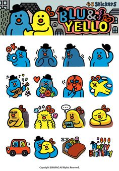 Kakao Talk on Behance Line Illustration, Character Illustration, Photographie Street Art, Mobile Stickers, Mascot Design, Line Sticker, Cute Characters, Cartoon Images, Illustrations And Posters