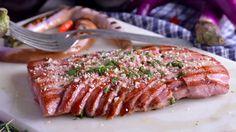 Receta | Ventresca de atún a la almendra con almíbar de limón - canalcocina.es